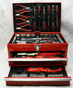 Mannesmann M29066 Box Tools Of Workshop Fitted With 155 Parts New