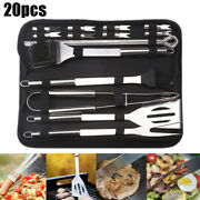 Bbq Tool Set Stainless Steel Barbecue Utensil Easy Clean Outdoor Cooking Kits Us