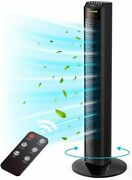 Homech 36 Inch Standing Tower Home Fan Air Ionizer With Remote Control 3 Speed