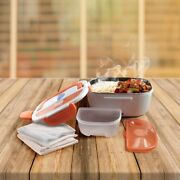 Container Food Thermal Holders Warmer Rack Stand Chrome Use In The Work Orange