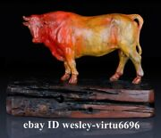 Home Decoration Copper Brass Hand-painted Ox Oxen Cow Cattle Bull Bovine Statue