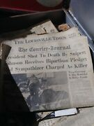 Collection Of Historic Newspapers Jfk Ect