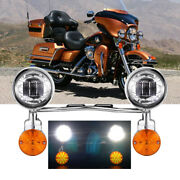 Motorcycle Passing Driving Spot Fog Lamp Turn Signal Light For Harley Touring