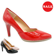 Women's Pumps Patent Leather Bridal 8-cm Stiletto Heel Made In Spain - Big Sale