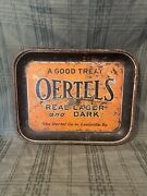 Super Rare 1930and039s And039oertels Beer Tray Real And Dark Lager Metal Tray