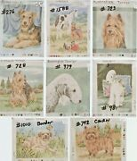 Terriers Group 1 5 Different Breeds Needlepoint Dog Canvas Paint Lindy Tilp