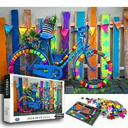 Home Decor Puzzles For Adults Kids Amsterdam Vintage Colorful Bicycle 1000 Pcs