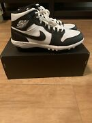 Airjordan 1 Td Cleats Black White Football Mid Ar5604-100 Size 9 See Description