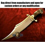 Custom Handmade Carbon Steel Bowie Knife With Stag Horn Handle With Unique Cover