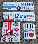 Testors Gas Powered Car Waterslide Decals -4 Different Ones To Chose From