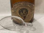 C1890 Labeled Duffy's Malt Whiskey Bottle Rochester Ny And Medicine Spoon