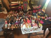 Huge Lot Of Monster Dolls Bratz Dolls With Many Accessories
