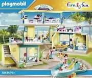 Playmobil Family Fun 70434 Beach Hotel, From Of 4 Years With 2 Bungalows