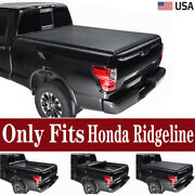 For 2017-2021 Honda Ridgeline Truck Bed Covers Roll Up Soft Tonneau Cover W/lock