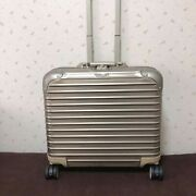 Rimowa Topas Stealth Business Multiwheel Trolley Suitcase Gold Handle Travel