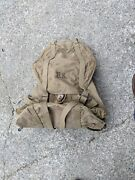 Vintage 1942s Ww2 Us Army Military Field Backpack Rucksack Canvas Bag With Frame