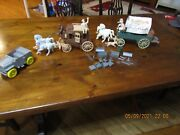 1960's Ideal Roy Rogers Chuck Wagon Stage Coach And Car