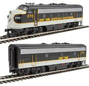 Walthers-emd F7 A-b Set - Esu Sound And Dcc -- Norfolk Southern 270, 275 Tuxe
