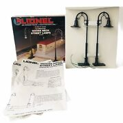 Lionel Goose Neck Illuminated Street Lamps 0 And 027 Gauge 6-12742 1989 New
