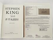 Stephen King Hand Signed First 1st Edition If It Bleeds Hardcover Book Jsa Loa