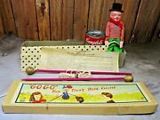 Vintage Japan Gogo The Tight-rope Walker Toy New In Original Box W/ Instructions