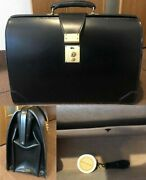 Swaine Adeney Brigg Dulles Bag Black Business Bridle Leather Menand039s Briefcase