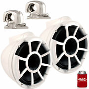 Wet Sounds Rev10 White 10 Towers Mini Swivel Clamps Fits 1 To 1.875 Pipe