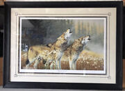 """Exclusive Print Friends Of Nra By Krystii Melaine """"calling The Twilight"""" Wolves"""
