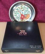 1972 Veneto Flair Four Seasons 516/2000 Silver Plated Winter Collection Plate