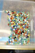 Vintage Lot Of Mixed Marbles Almost 4 Pounds 119e