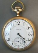1800and039s Elgin B.w.raymond 19 Jewels Rr Grade 14k Gold Filled Case 16s Estate