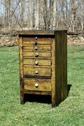 Vintage Antique Wood Cabinet Tool Drawers Old Farmhouse Country Decor