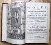 1687 Folio Attractive Works Of Chaucer Last Black Letter Edition