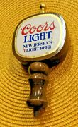 Vintage Coors Light New Jersey's Beer Tap Brewing Wood Handle Bar Man Cave Nj