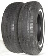 Used Pair Goodyear Tires P215/75r15 Goodyear Viva 2 White Wall 100s 2157515