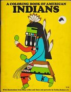 A Coloring Book Of Native Americans By Bellerophon Books 1970 Vintage Unused