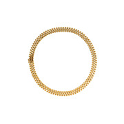 Pre-owned 9ct Gold 16andrdquo 3 Row 10mm Bobble Collar