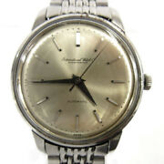 Schaffhausen Antique Watch Silver Automatic Fish Crown Confirmed Operation