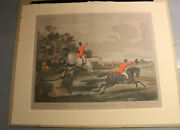 Antique Bachelors Hall Hunting Scenes Prints Plates All 6 Plates