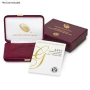 No Coin - 2021-w 50 Proof Gold American Eagle Oem Box And Coa