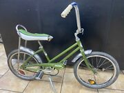 1970s Vintage Clipper By Columbia 20 Kids Bicycle W/ Motorcycle Style Stand