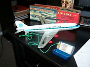 Vintage Antique Haji Japan Pan Am American Clipper Tin Battery Op Air Planeandnbsp