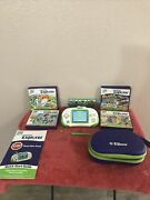Leapster Explorer W/8 Games, Case, Camera And Start Guide, Toy Story And Sponge Bob.