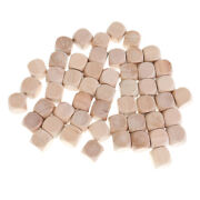 50x Blank Wooden Dice 16mm For Kids Blocks Baby Shower Diy Crafts Carving