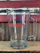Vintage Budweiser 64oz Beer Pitcher, Ready To Use