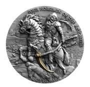 Pale Horse Four Horsemen Of The Apocalypse 2021 2 Oz Silver Final Issue Coin 90