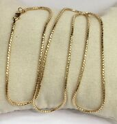 18k Solid Yellow Gold Italy Snake Chain/necklace Dimond Cut. 18andrdquo. 3.75 Grams