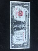 1928 Us 1 Dollar Red Seal Note.