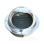 304ss Polished Air Vent Grille Ducting Wall Ventilation Cover Grid Od 50 - 300mm