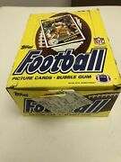 1984 Topps Football Wax Box 36 Packs Non X Out Marino Elway New Old Stock Psa It
